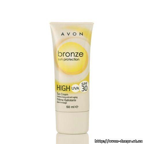 Солнцезащитный увлажняющий крем для лица с омолаживающим эффектом SPF 30