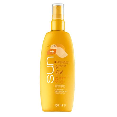 Солнцезащитное увлажняющее масло-спрей для тела SPF6